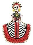 Day Of The Dead Traditional Fiesta Cinco De Mayo Lady In Red Senorita Skeleton Figurine
