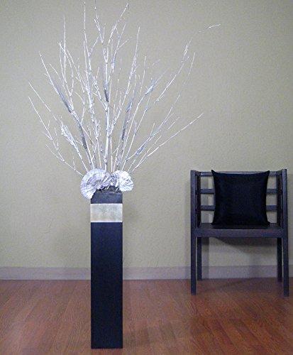 Gl Vase With Black on black no, black pl, black gi, black ve, black sl,