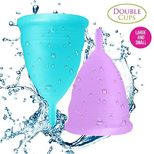 Blossom Menstrual Cups Set of 2 Cups (Sm Blue & Lg Purple)