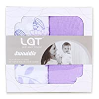 Baby Swaddle Blanket Set Of 2, Large Premium Muslin Swaddling Cotton Cloth 5-...