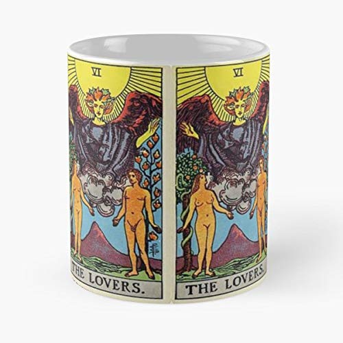 Tarot The Lovers Love Sun Funny Floral Coffee Mugs Gifts]()