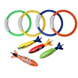 Jsentai Swimming Pool Diving Toys Great accessories for water games, Pool Supplies - Best Reviews Guide