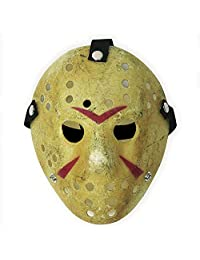Costume Prop Horror Hockey Mask Halloween Myers (Adult (One Size), Yellow)
