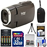 Vivitar DVR949HD 1080p HD Video Camera Camcorder (Black) with 32GB Card + Batteries & Charger + Case + Tripod + Kit