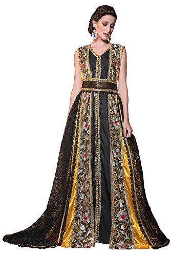 PalasFashion Damen Kleid schwarz schwarz