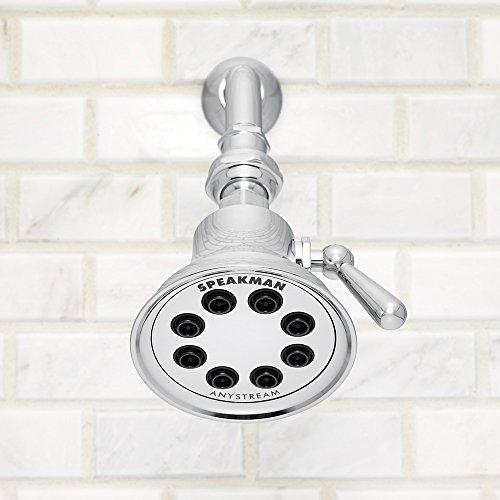 Speakman S-3015 Retro Anystream Solid Brass High Pressure Adjustable Shower Head, Polished Chrome best