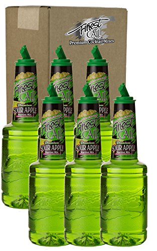 Sour Apple Martini Drink Mix, 1 Liter Bottle (33.8 Fl Oz), Pack of 6 (Martini Extra Dry Vermouth)