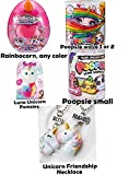 Poopsie Rainbocorns Any Color, Wave 1 or 2, Small, Unicorn Pomsies Luna and 1 Pair Friendship Unicorn Necklace