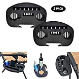 Cchainway 2 Pack Zero Gravity Chair Tray - Cup Holder for Fold Lounge Chairs Large, Zero Gravity Lounge Chairs Universal Clip with Mobile Device Slot, Snack Tray, and Water Cups Tray (Black) (Large)