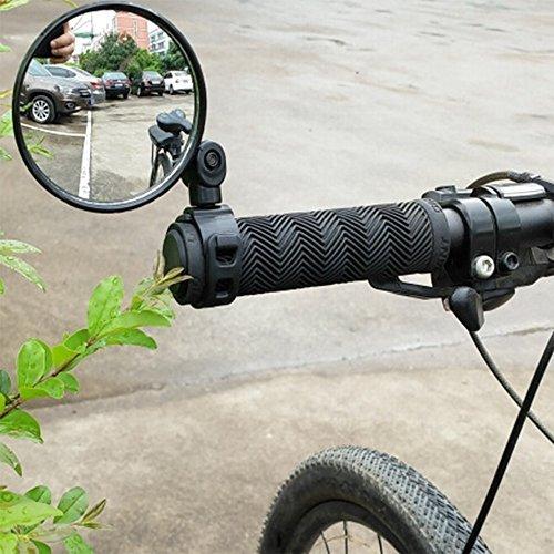 2-pack Adjustable Rotatable Handlebar Glass Mirror for Mountain Road Bike Cycling Bicycle by CIKIShield (Image #2)