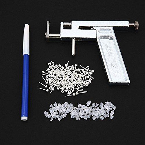 Professional Steel Ear Nose Navel Body Piercing Gun 72pcs Studs Tool Kit Set Lovelysunshiny