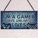 Clothful  Gamer I'm A Gamer Best Friend Gift Novelty Birthday Hanging Plaque Gift