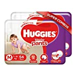 Huggies Wonder Pants Medium (M) Size Baby Diaper Pants Combo Pack of 2, 54 count, with Bubble Bed Technology for comfort