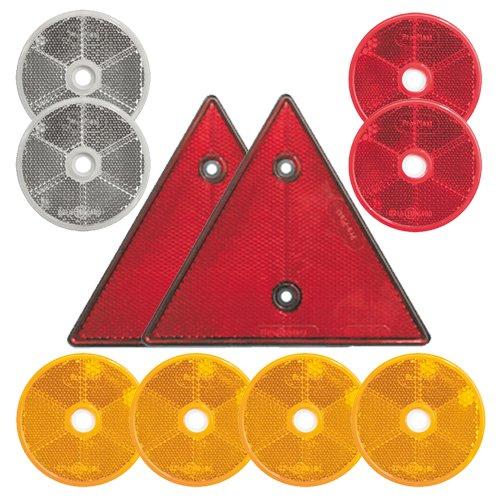 10-teiliges SET: Reflektoren / Katzenaugen / Rü ckstrahler K24 - Reflektoren