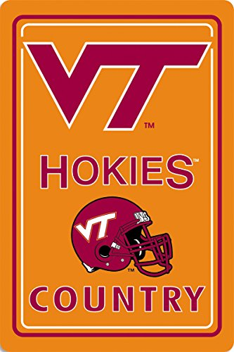 - BSI NCAA Virginia Tech Hokies Metal Sign, 12