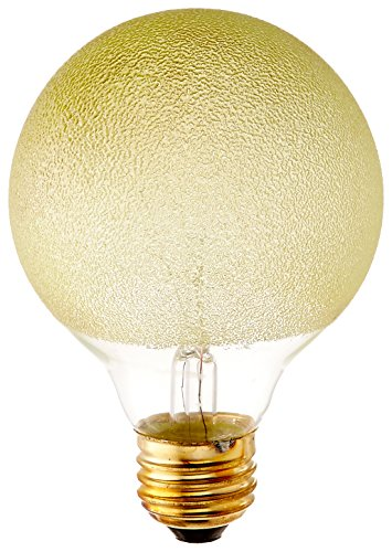 Bulbrite 40G25/ICE Crystal Collection Incandescent G25 Globe Light with Ice Finish and Medium Base, 40-watt, Amber