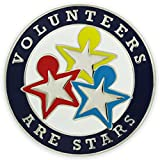 PinMart's Volunteers are Stars Enamel Lapel Pin