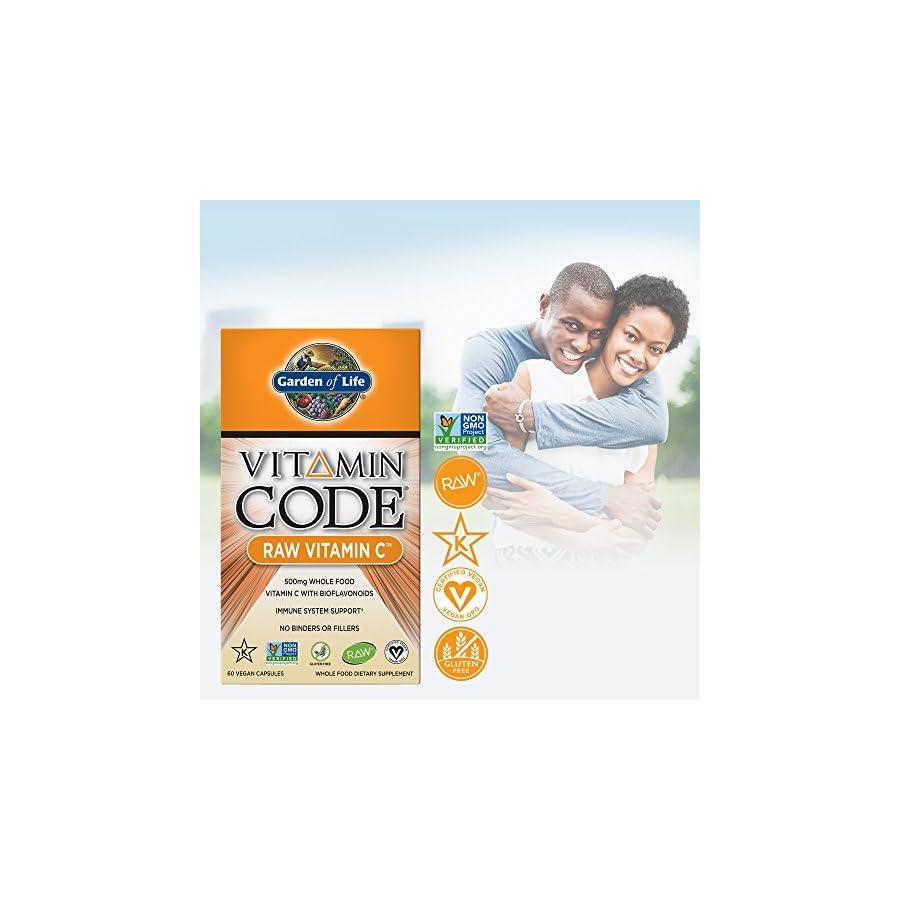 Garden of Life Vegan Vitamin C Vitamin Code Raw C Vitamin Whole Food Supplement