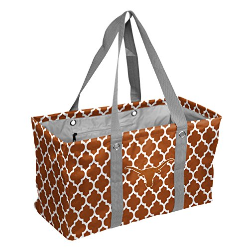 Logo Brands Collegiate Large Collapsible Picnic Tote Texas Longhorns, Rust, One Size