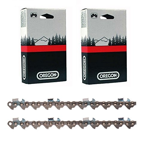 2 Pack, Genuine Oregon Chain, 72JGX091G 91 Drive Link Super Guard Skip Sequence Chain (for 28