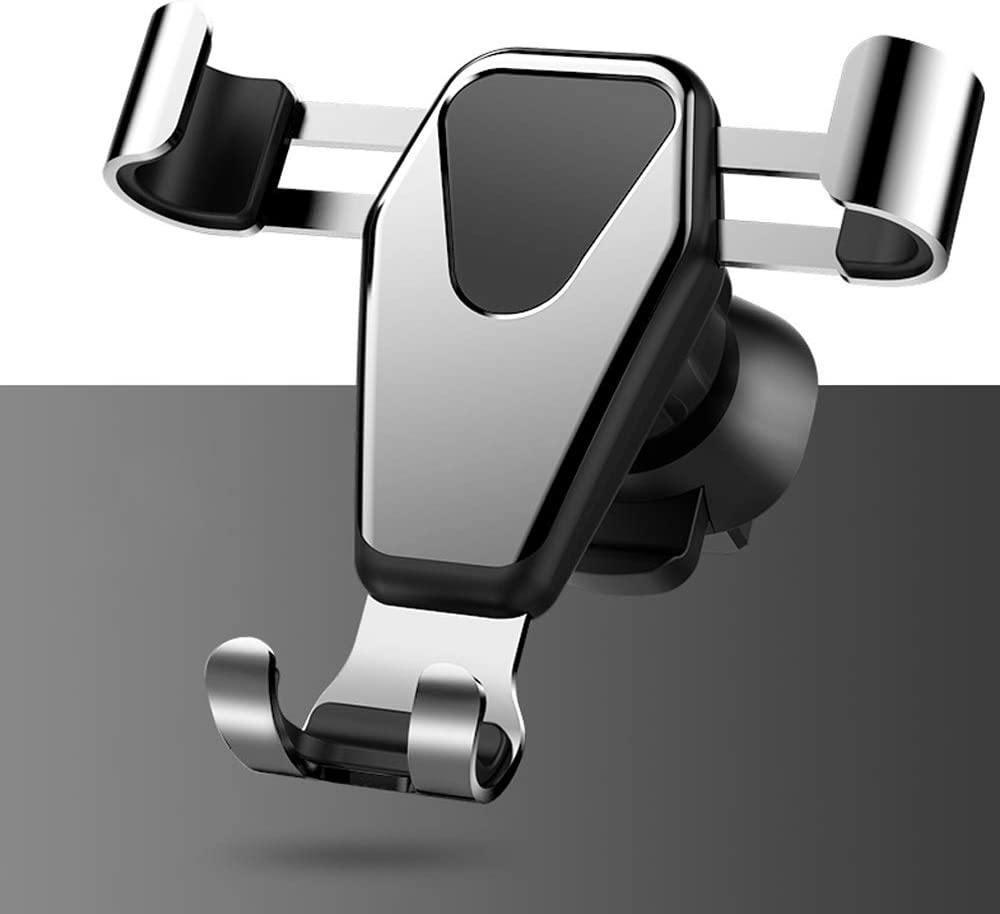 Gray VOANZO Air Outlet Car Phone Holder Compatible with All Phones Gravity Sensor Metal Car Mount Phone Holder