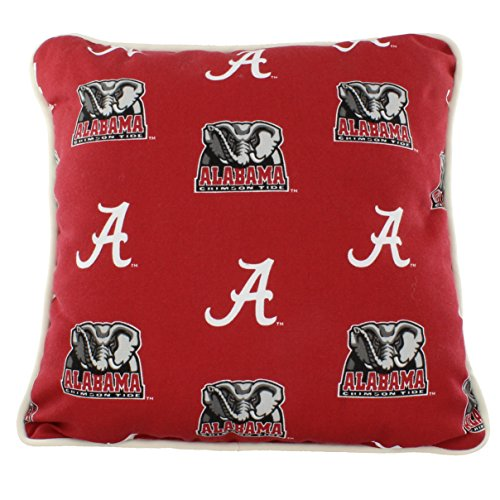 "College Covers Alabama Crimson Tide Outdoor Decorative Throw Pillow, 16"" x 16"", Team Colors"