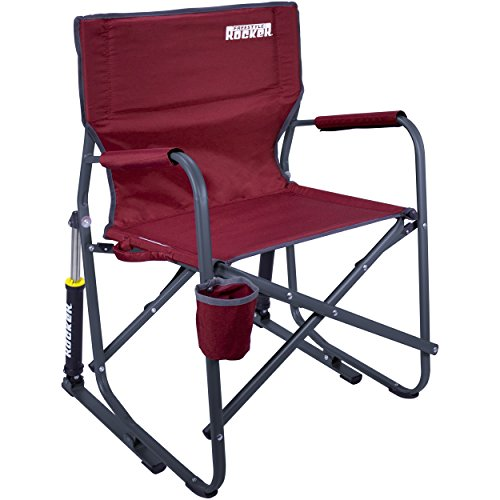 GCI Outdoor Freestyle Rocker Portable Folding Rocking Chair, - Chair Lawn Folding