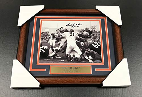 DICK BUTKUS CHICAGO BEARS AUTOGRAPHED SIGNED 8x10 FRAMED PHOTO TRI STAR ()