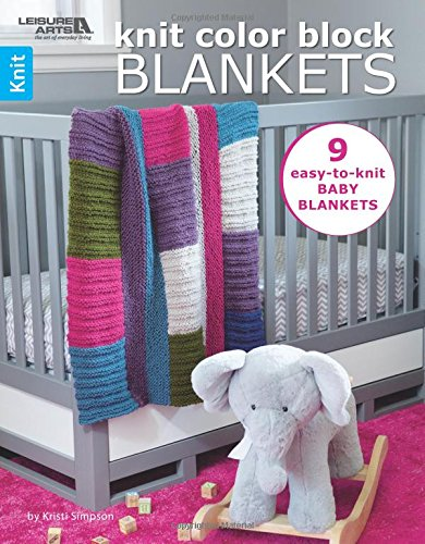Knit Color Block Blankets: 9 Easy to Knit Baby Blankets