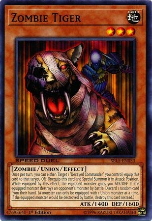 Yu-Gi-Oh! - Zombie Tiger - SBLS-EN033 - Common - 1st Edition - Speed Duel Decks - Arena of Lost Souls