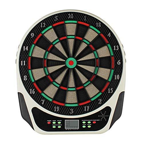 Inklusive 6 Dartpfeile Dartscheibe Elektronisch E Dartboards Dartautomat mit LED-Anzeige 18 Spielen und 159 Varianten f/ür 8 Spieler Topwill Elektrisches Dartboard