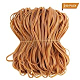 240 Pack Large Rubber Bands, Esee Heavy Duty Trash Can Band, Strong Elastic Bands for Office Supply, Garbage Cans, File Folders, Size 8 Inches