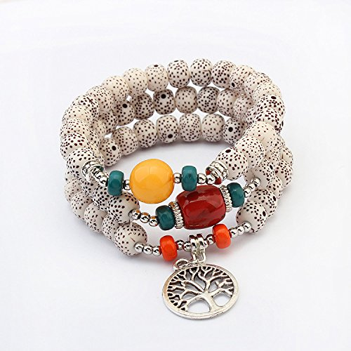 Price comparison product image European and American trade jewelry accessories fashion wild bracelet beaded bracelets Bodhi secret language multilayer Bracelet 1529