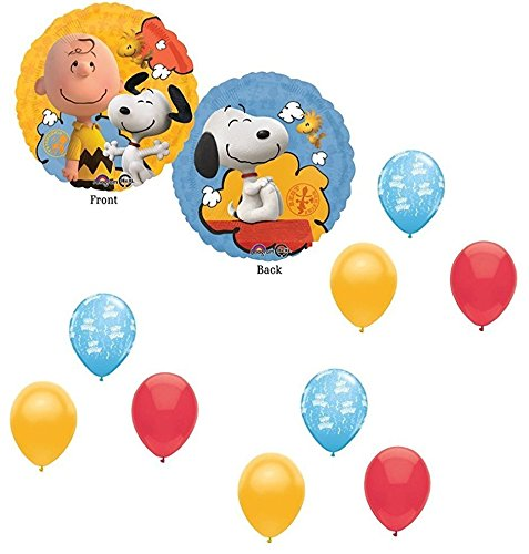 Peanuts Snoopy Charlie Brown Balloons 10 Piece Decoration Supplies Party -