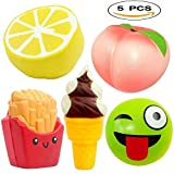 5pcs Jumbo Squishies Slow Rising Cream Scented Best for Kids-Adults Fun Activites Party-Decorations Stress-relief