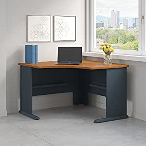 Series A 48W Corner Desk in Natural Cherry and Slate