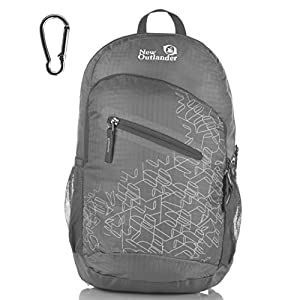 Outlander Packable Handy Lightweight Travel Hiking Backpack Daypack-Grey-L