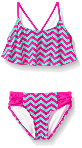 Kanu Surf Toddler Girls Alexa Flounce Bikini Swimsuit, Pink, (2 Piece Toddler Swimsuit)