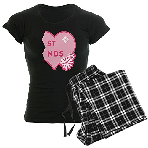 Pink and Black Best Friends Heart Right