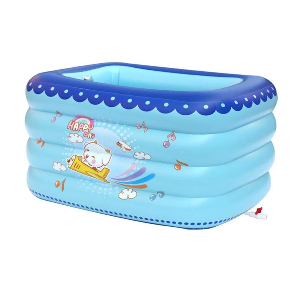GWM Bañera Bañera Hinchable, Piscina para niños con Forma Cuadrada ...