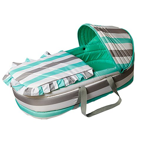 Olpchee Portable Baby Carrycot Baby Travel Bed Crib Infant Transporter Basket with Double Handle for 0-7 Months Babies ()