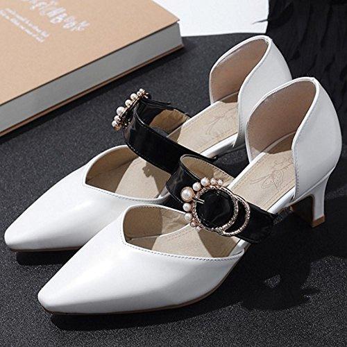 Donna D Big Scarpe Orsay White Melady Dimensiones Mode Pumps Btcaw