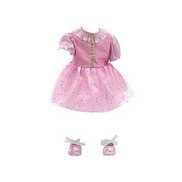 Juguetes Vestido Zapatos Baile Encaje Satén Ajustable 18pulgadas Muñecas American Girl - Rosa 1