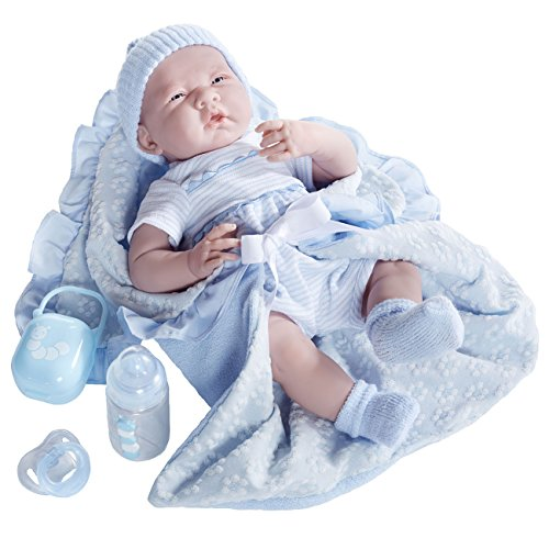 JC Toys  Deluxe Realistic Baby Boy Doll, 15.5