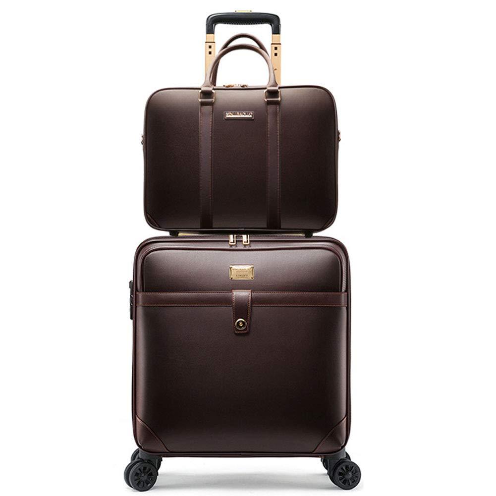 スーツケース 機内持込 軽量 キャリーケース出張 TSAロック ブリーフケース コンピュータバッグ S水平 ブラウン S ブラウン 水平 B07K2CP7B7