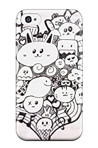 Best New Shockproof Protection Case Cover For Iphone 4/4s/ Doodle Art Case Cover