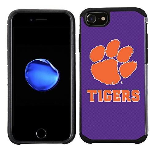 Prime Brands Group Textured Team Color Cell Phone Case for Apple iPhone 8/7/6S/6 - NCAA Licensed Clemson University Tigers