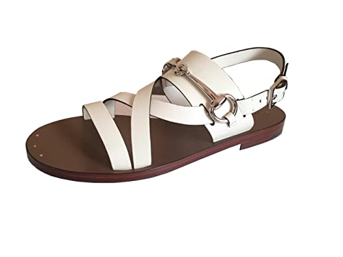 5626db1fc5b Gucci Women s Juliette Off White Leather Flat Bit Sandals EU-38.5  Buy  Online at Low Prices in India - Amazon.in