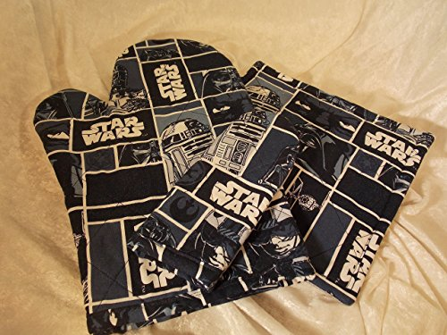 Star Wars Oven Mitts, Set of 3, Durable Heat Resistant
