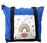 Lunarable Kids Shoulder Bag, Believe in Wonder Unicorn Tale, Durable with Zipper